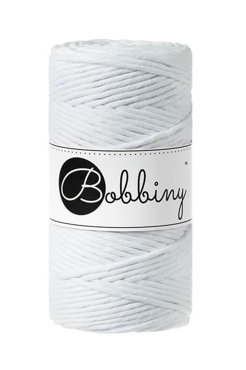 Bobbiny makramégarn Single Twist Regular 3 mm White