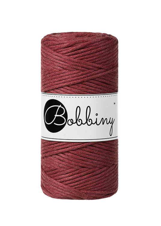 Bobbiny makramégarn Single Twist Regular 3 mm Wild Rose
