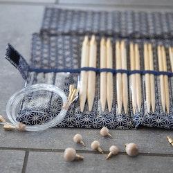 Seeknit Shirotake STD Blå - set med ändstickor 2.50 - 10 mm