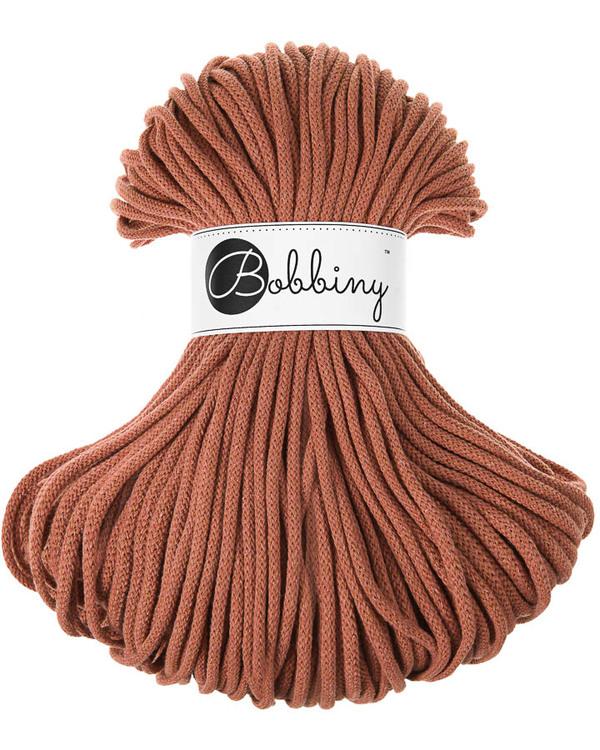 Bobbiny Braided Cord Premium 5 mm - flätat bomullsgarn