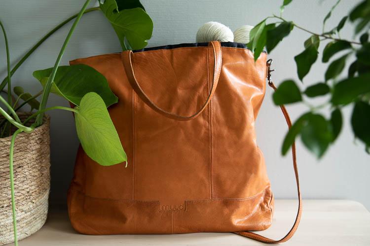 Muud Lofoten XL Whisky - brun väska i läder