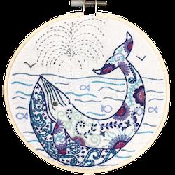 Un Chat dans l'aiguille - Broderikit Tavla - Madeleine la baleine