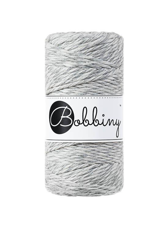 Bobbiny makramégarn Single Twist Regular 3 mm Marble