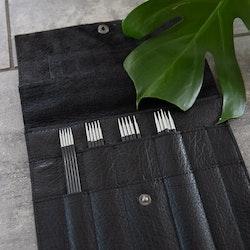 Muud Oslo Black - svart stickfodral i läder