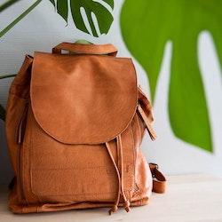 Muud Gimo Whisky - brun ryggsäck i läder