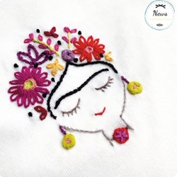Un Chat dans l'aiguille - Broderikit Kläder - Frida