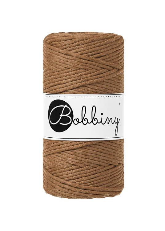 Bobbiny makramégarn Single Twist Regular 3 mm Caramel