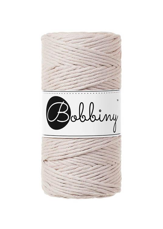Bobbiny makramégarn Single Twist Regular 3 mm Nude