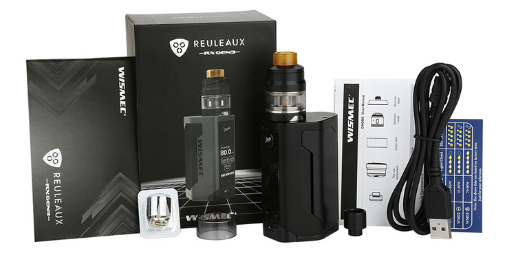 Wismec reuleaux RX GEN3 with GNOME Full Kit - 2.0ml