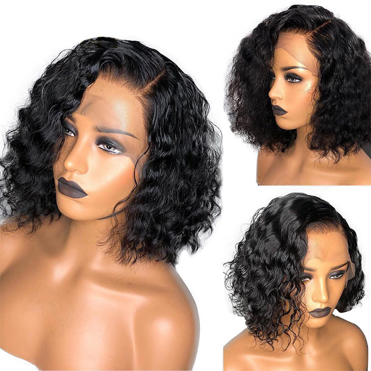 Remy Brazilian Curly Human Hair Wig