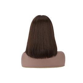 Full Machine Brazilian Straight Short Bob Human  Wig Natural Hairline