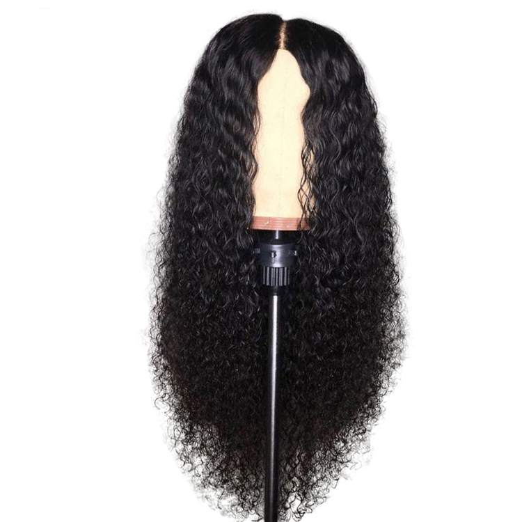 Curly Human Hair Wigs Raw Natural Color With Baby Hair Pre Plucked Wig