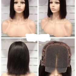 Straight Dark Brown 100% Human Hair Wig