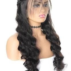 Remy Brazilian Loose Wave Human Hair Wig 4x4