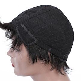Natural Black Color Short Cut Human Hair Wig
