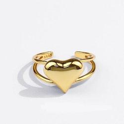Guld pläterad, platinum pläterad ring