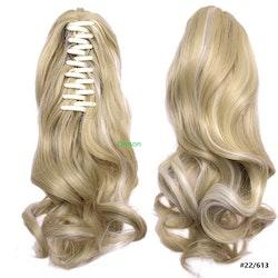 Blond klämma hårtofs förlängning