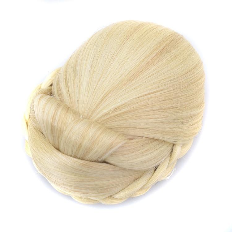 Clip bun blond hårtosen