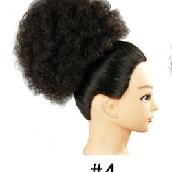 Clip in bun #4 afro hårtosen