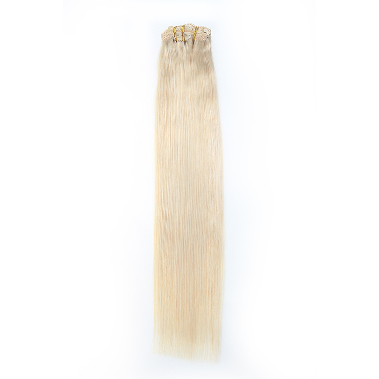 Clip in remy human hair extensions
