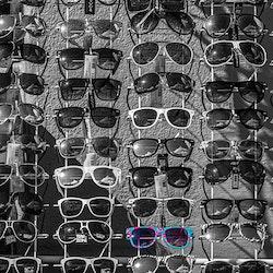Kule briller - Turkis-rosa