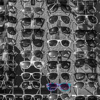 Raske briller - Turkis-rosa