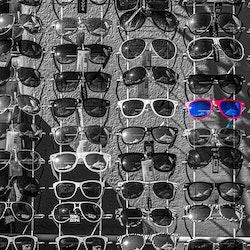 Raske briller - Blå-rød
