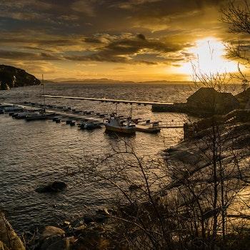 Havn i solnedgang 2