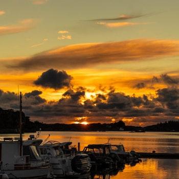 Båthavn i solnedgang 1