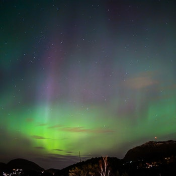 Nordlys over Bergen