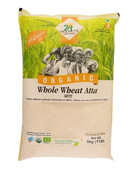 24 Organic Whole Wheat Flour 5kg