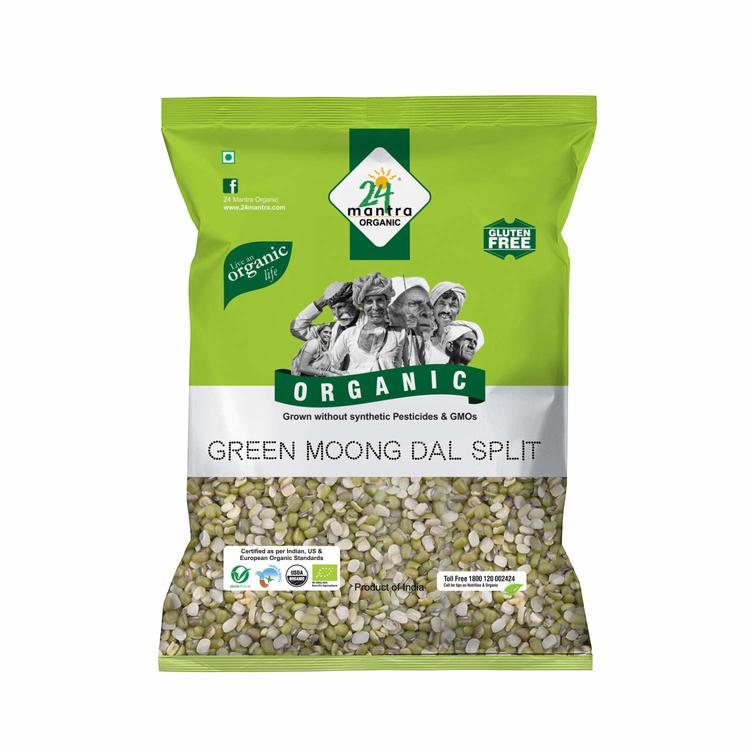 24 Organic Green Moong Split 1Kg
