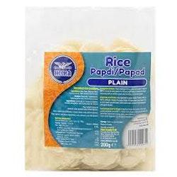 Heera Plain Rice Papdi/Crackers 200gms