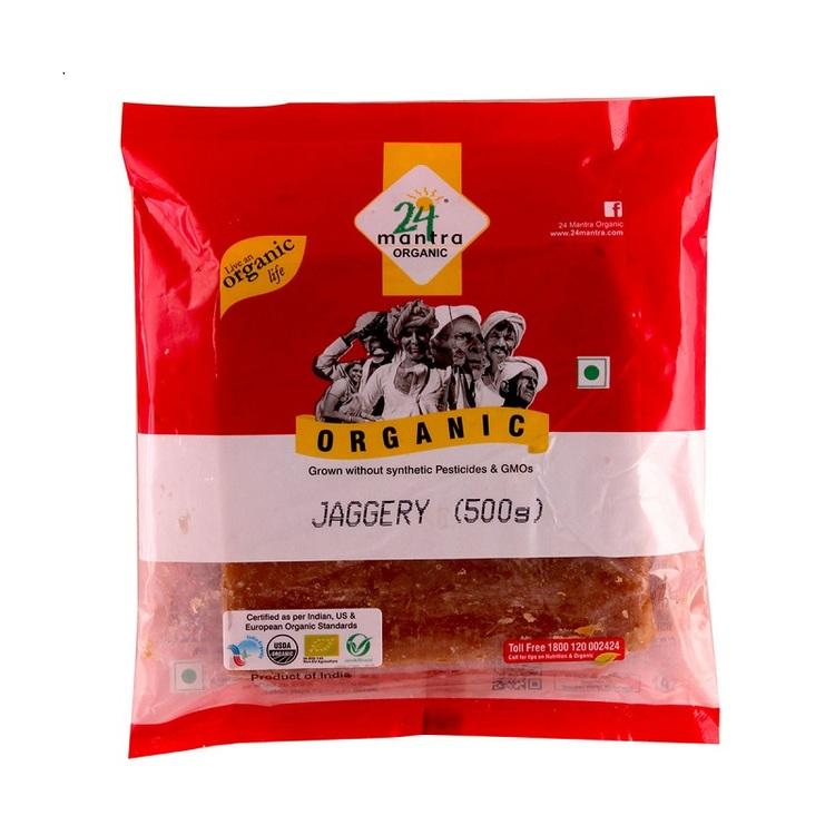 24 Organic Jaggery Whole 500gms