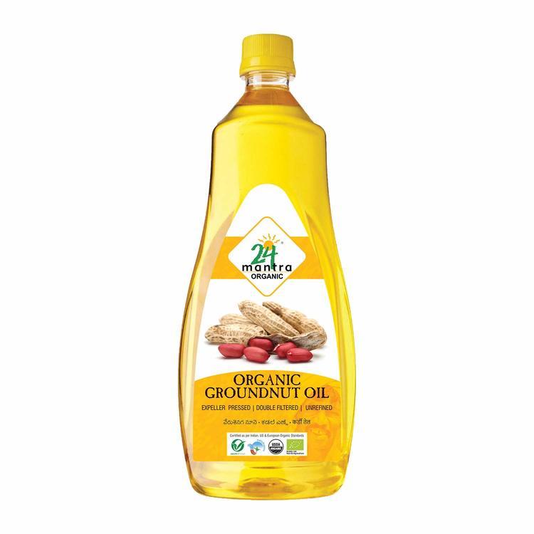 24 Organic Groundnut Oil 1L