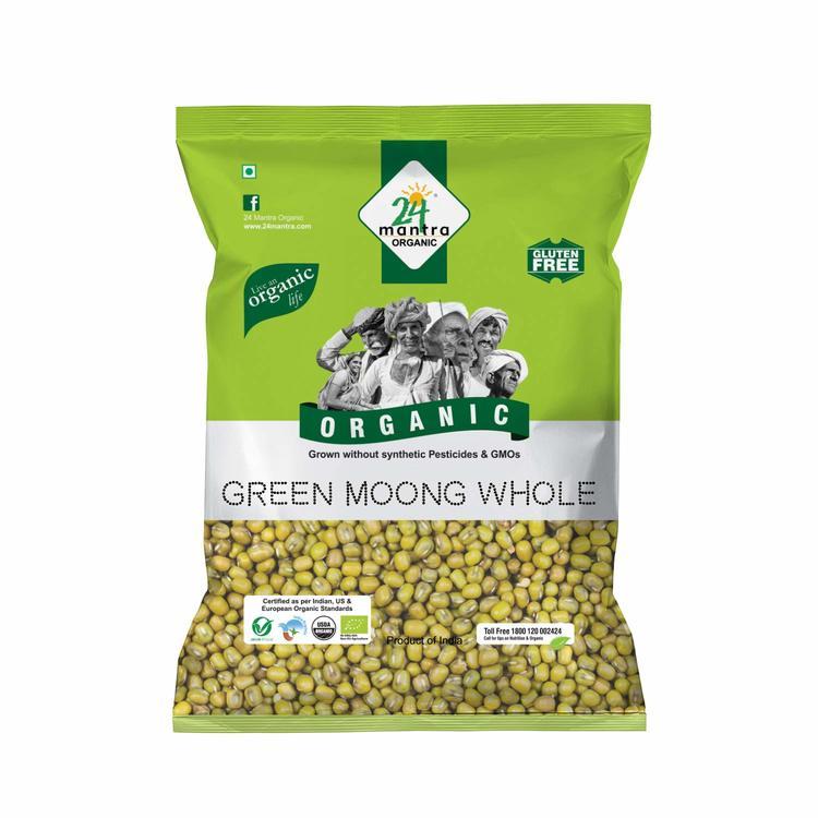 24 Organic Green Moong Whole 1kg