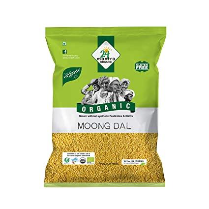 24 Organic Moong Dal Washed 1Kg