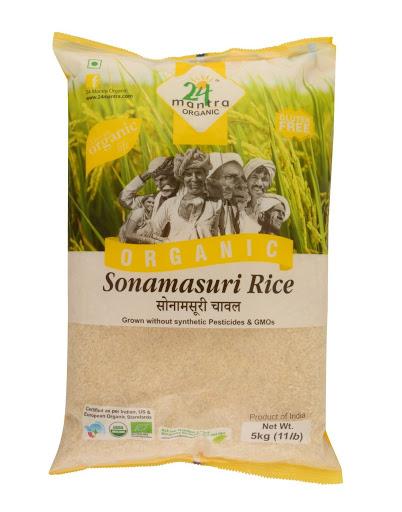 24 Organic Sonamasuri Rice  5Kg
