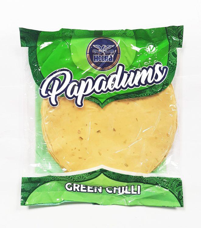 Heera Green Chilli Papad 200gms