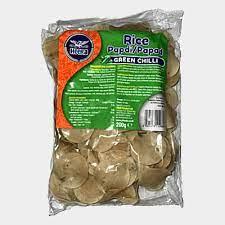 Heera Green Chilli Rice Crackers 200gms