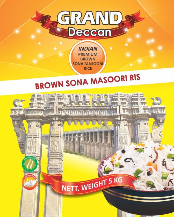 Grand Deccan Brown Sona Masoori Rice 5kg