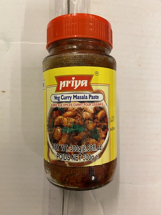 Priya Veg Curry Masala Paste 300gms