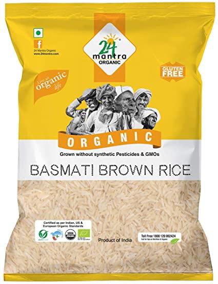 24 Organic Brown Basmati Rice 1kg