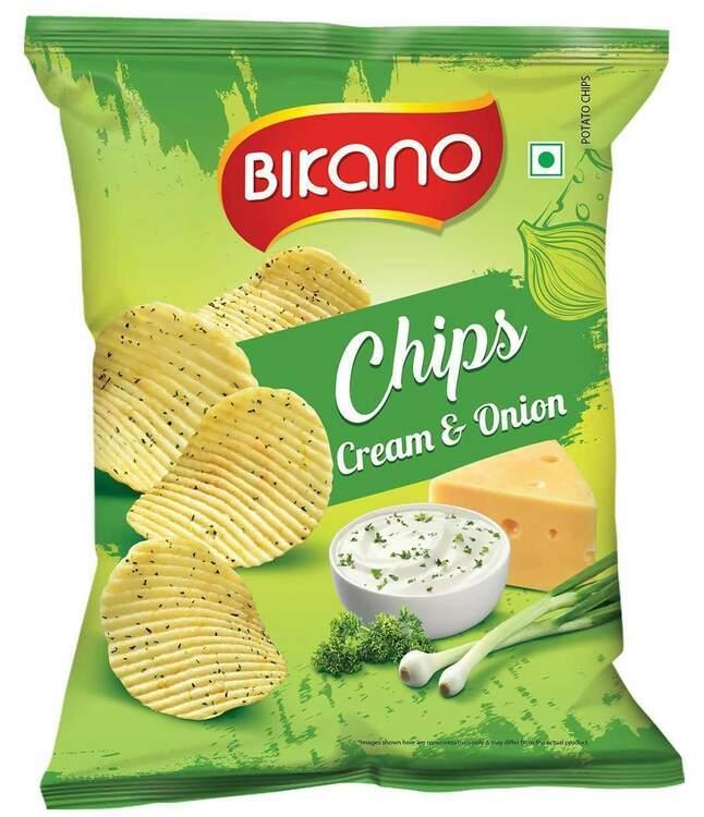 Bikano Chips Cream & Onion 60g