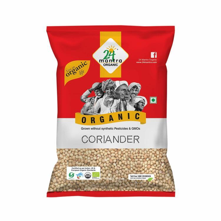 24 Organic Coriander Seeds 100gms