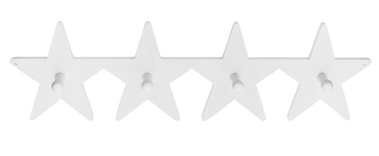 Hängare krokbräda Star vit