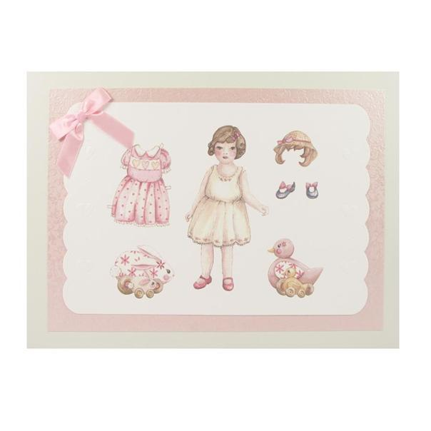 Wooden Box Pink Doll