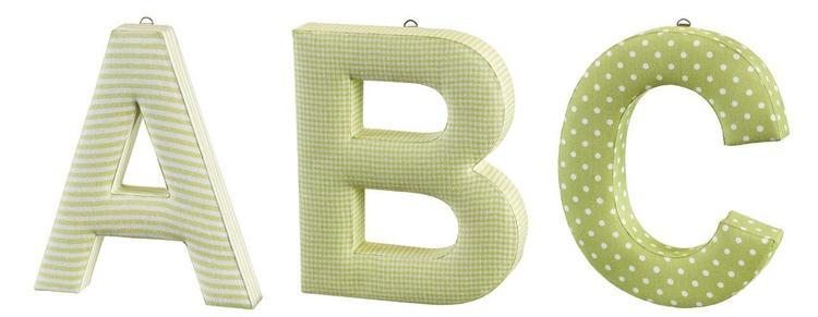 ABC bokstäver grön 3-pack