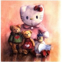 "Tavla ""Kitty and friends"""