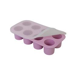 Portionsform, frysform för barnmat med lock